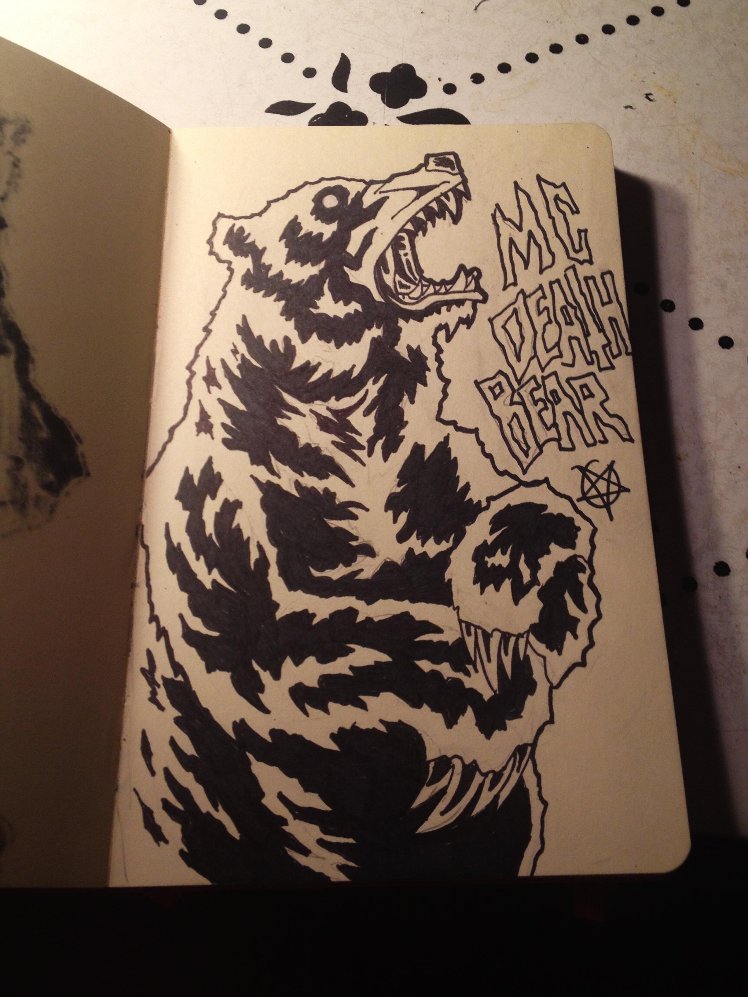 Zombie Drawing Mc Death Bear